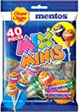Chupa Chups Mix of Minis Bag, 40 Lollipops & Mini Rolls, Perfect Share Pack for Halloween and Parties, 320 g