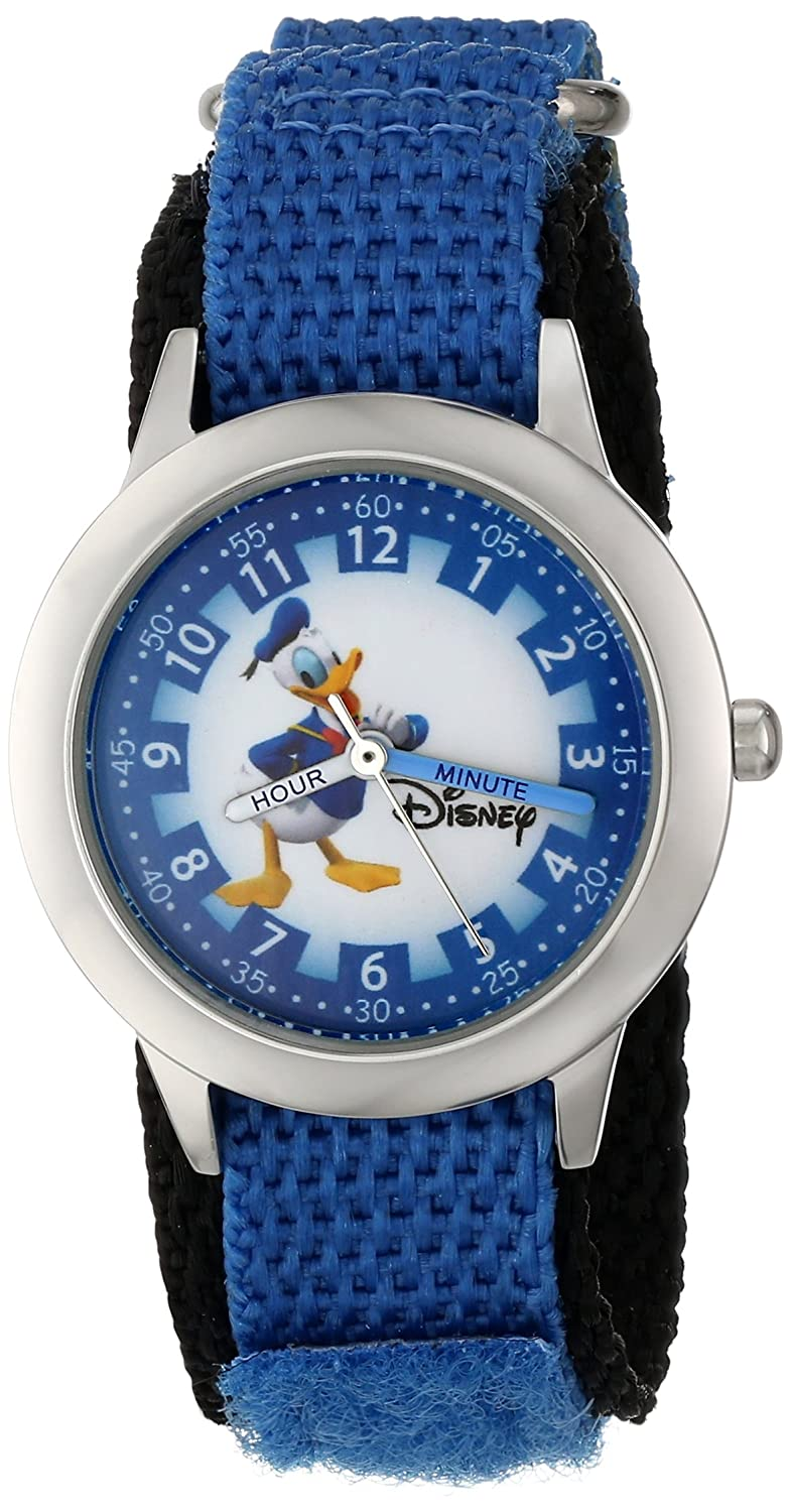 Disney By Ewatchfactory Kids Donald Duck Quartz Watch With White Casio Edifice Ef 534rbk 1a Dial Time Teacher Display And Blue Nylon Strap W000149 Watches
