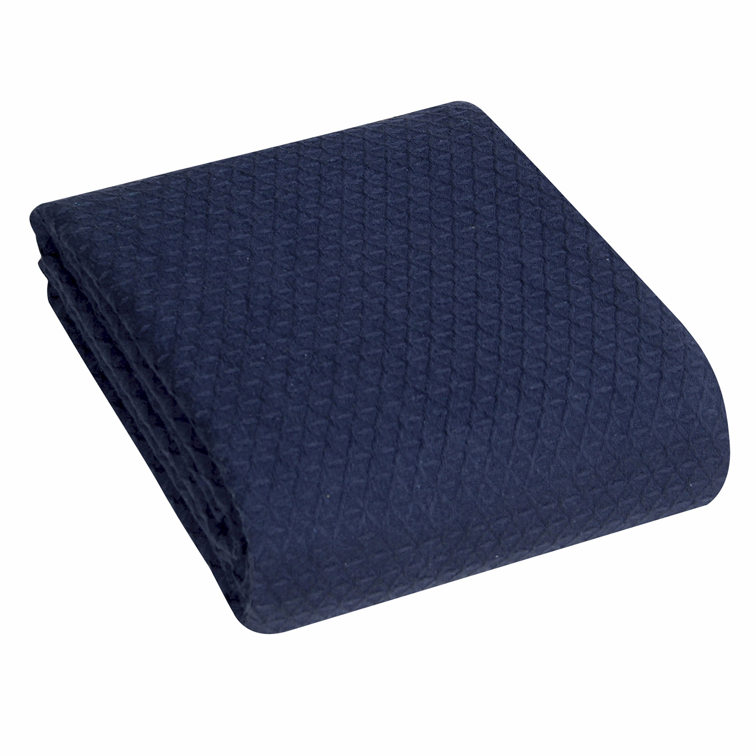 IntradeGlobal Classic All Seasons Super Soft Mediumweight Cotton Blanket DARK NAVY, King