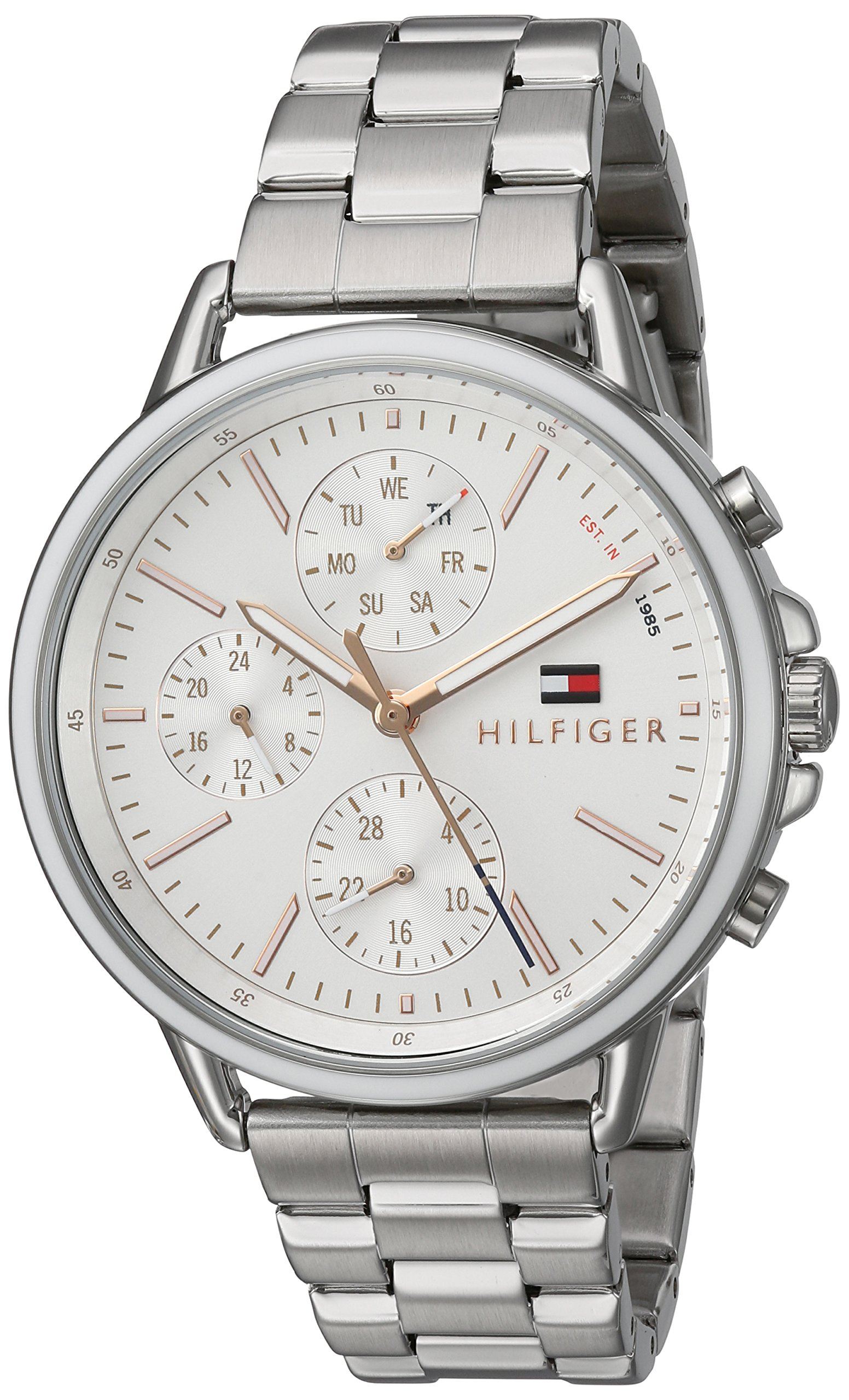 Tommy Hilfiger Women's 'Sport' Quartz Stainless Steel Casual Watch, Color:Silver-Toned (Model: 1781787)