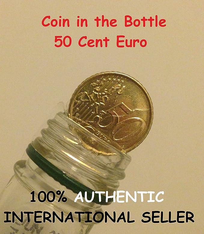 Plegable Moneda 50 centavo Euro / Magic Moneda en Botella 50 centavo Euro: Amazon.es: Juguetes y juegos