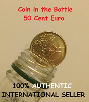 Folding Coin 50 Cent Euro Magic Coin In Bottle 50 Cent Euro