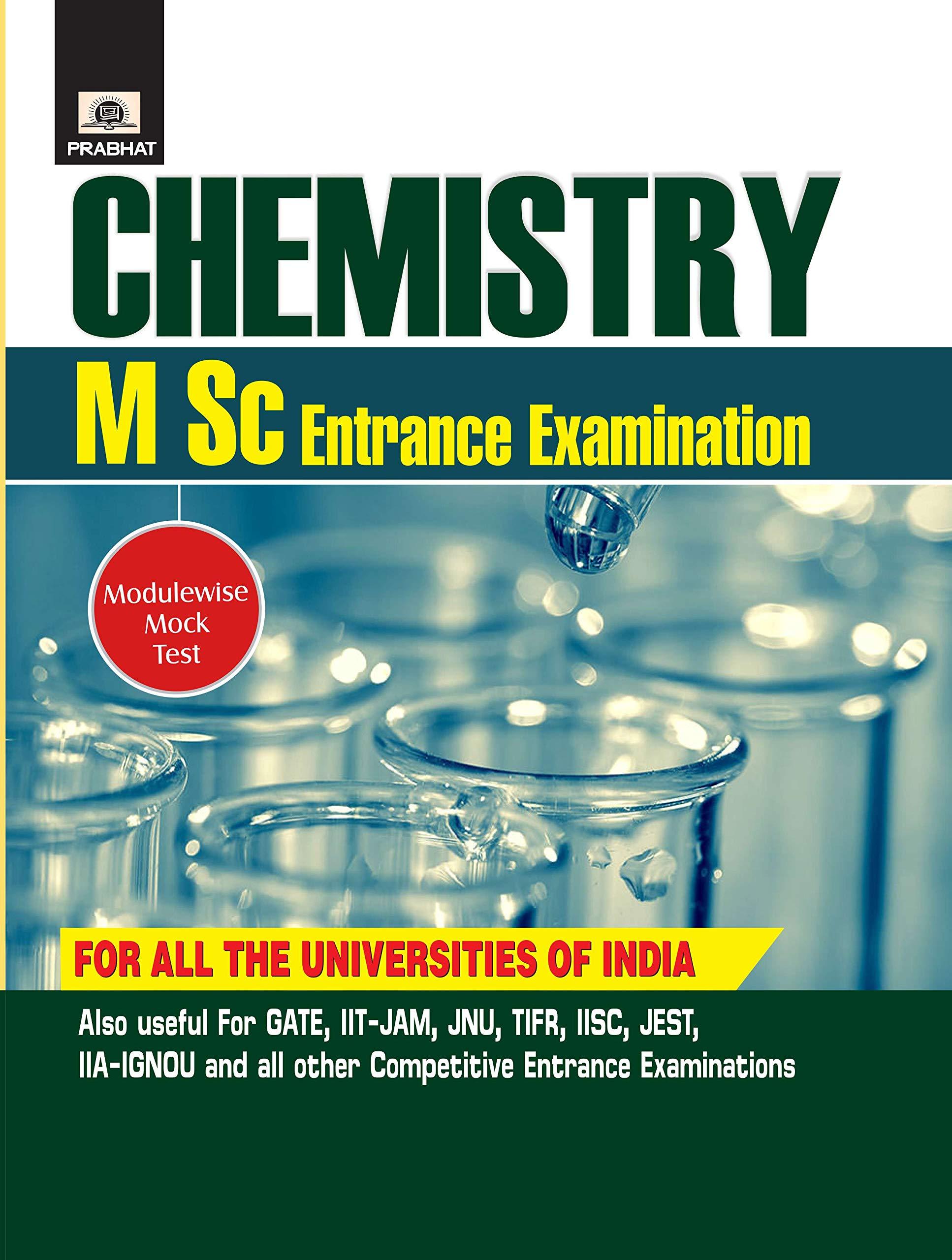 MSC CHEMISTRY ENTRANCE EXAMINATION