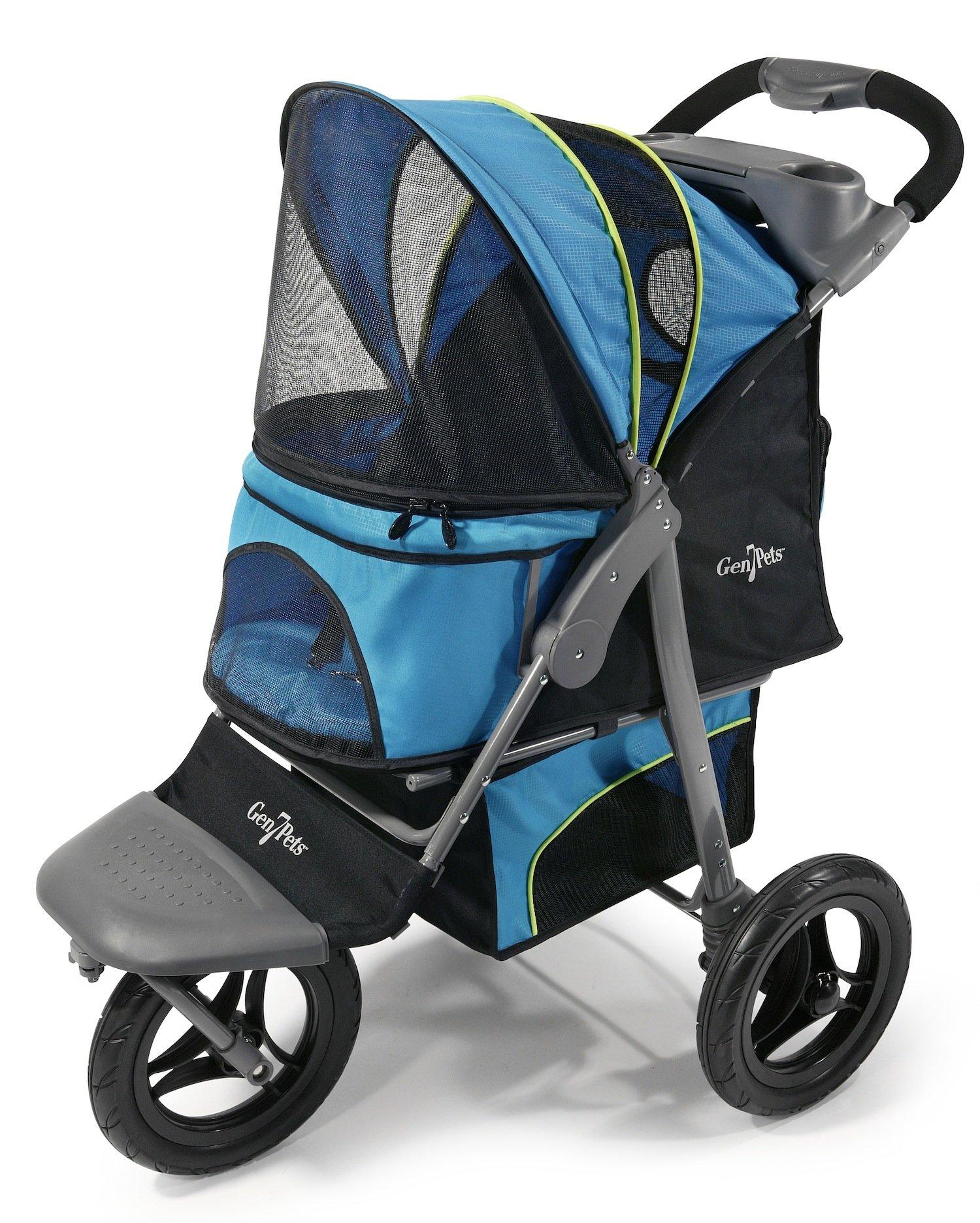 Gen7Pets G7 Jogger Pet Stroller, Trailblazer Blue