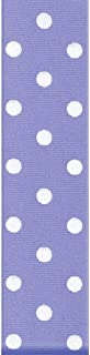 product image for Offray, Iris Grosgrain Polka Dot Craft Ribbon, 1 1/2-Inch x 9-Feet