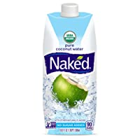 Naked Juice 100% Organic Pure Coconut Water, USDA Organic Certified, NON GMO Project...