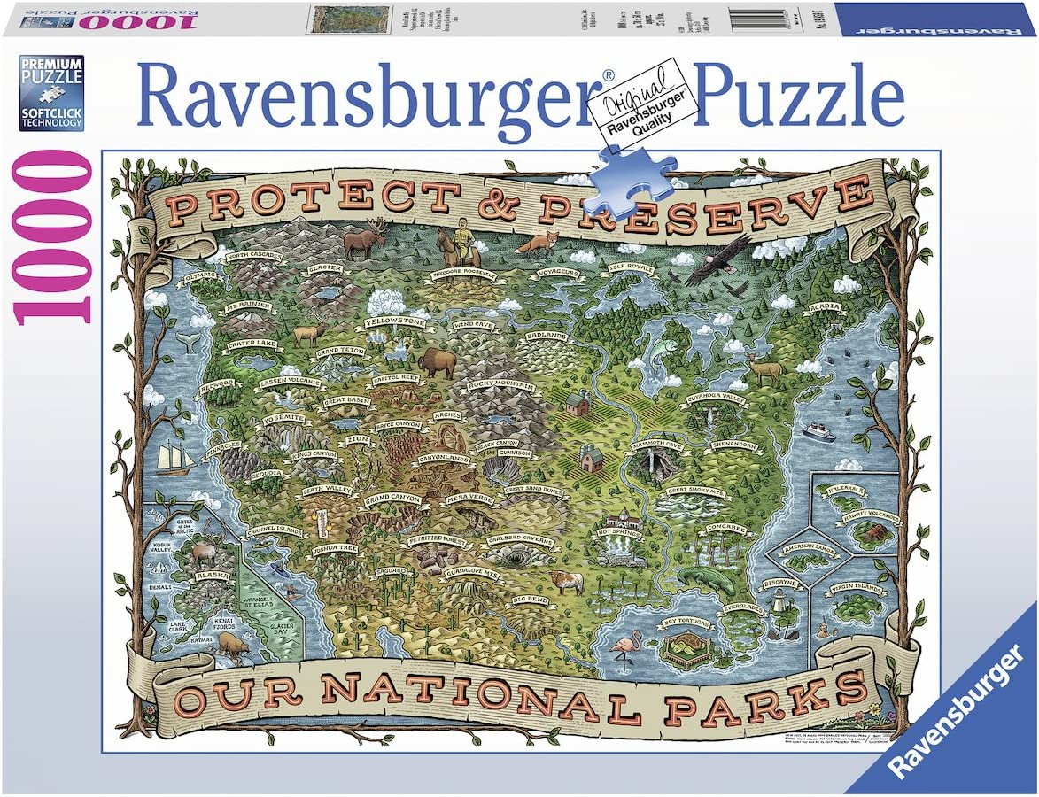 Ravensburger Protect and Preserve USA-1000 Piece Jigsaw Puzzle
