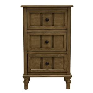 Décor Therapy Simplify Three Drawer Accent Table, 11.8x15.75x25, Sahara