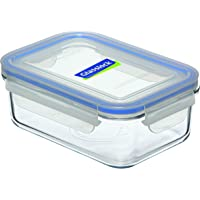 Glasslock Tempered Glass Rectangular Food Container, 715 ml Capacity, Clear, MCRB-071
