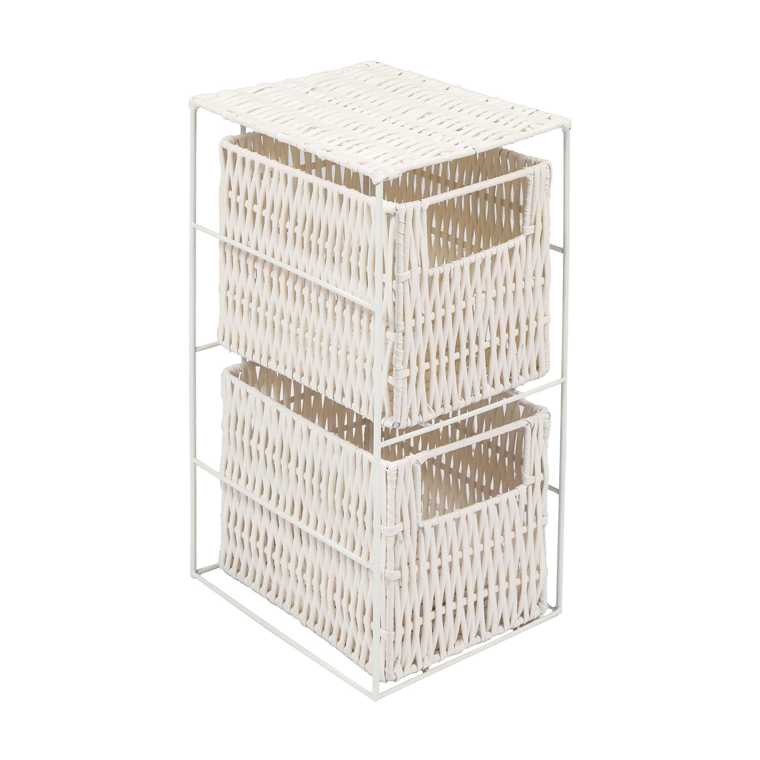WoodLuv 2-Drawer Resin Tower Storage Unit White  sc 1 st  Amazon UK & Storage Units with Baskets: Amazon.co.uk