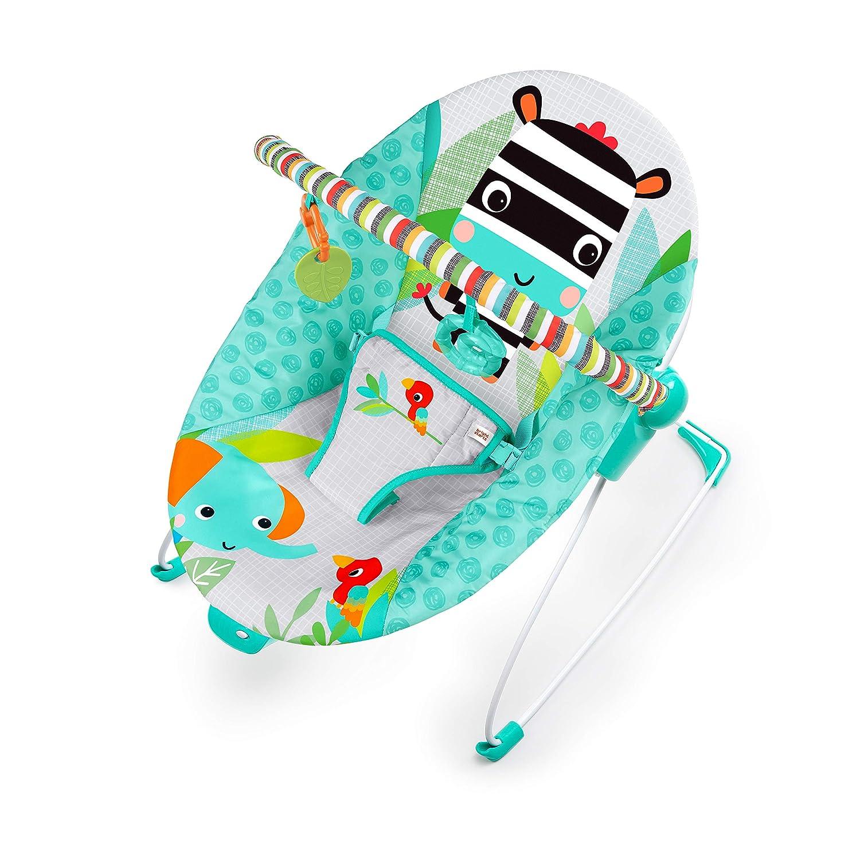 Bright Starts Zig Zag Zebra Vibrating Bouncer Seat, Ages Newborn +