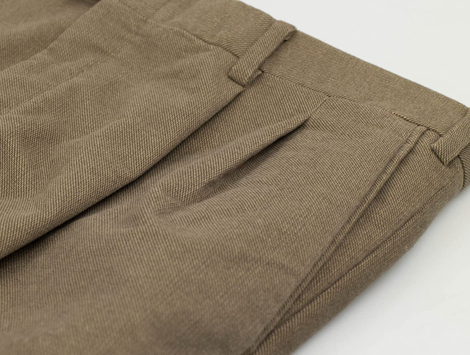 BRIONI Canazei Brown Cotton Blend Pleated Casual Pants Size 50//34 R