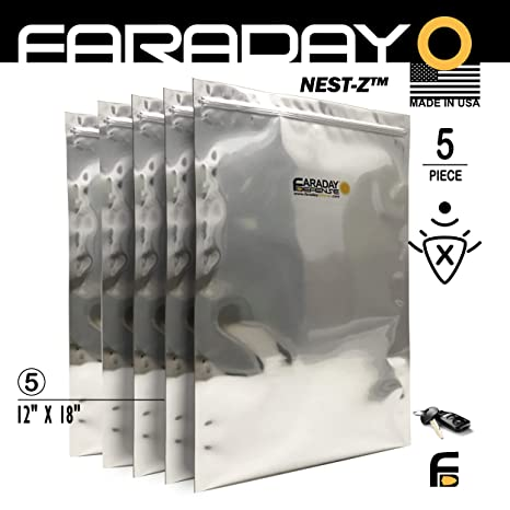 Jaula de Faraday Emp/ESD bolsas Premium 5 piezas grueso y pesado ...