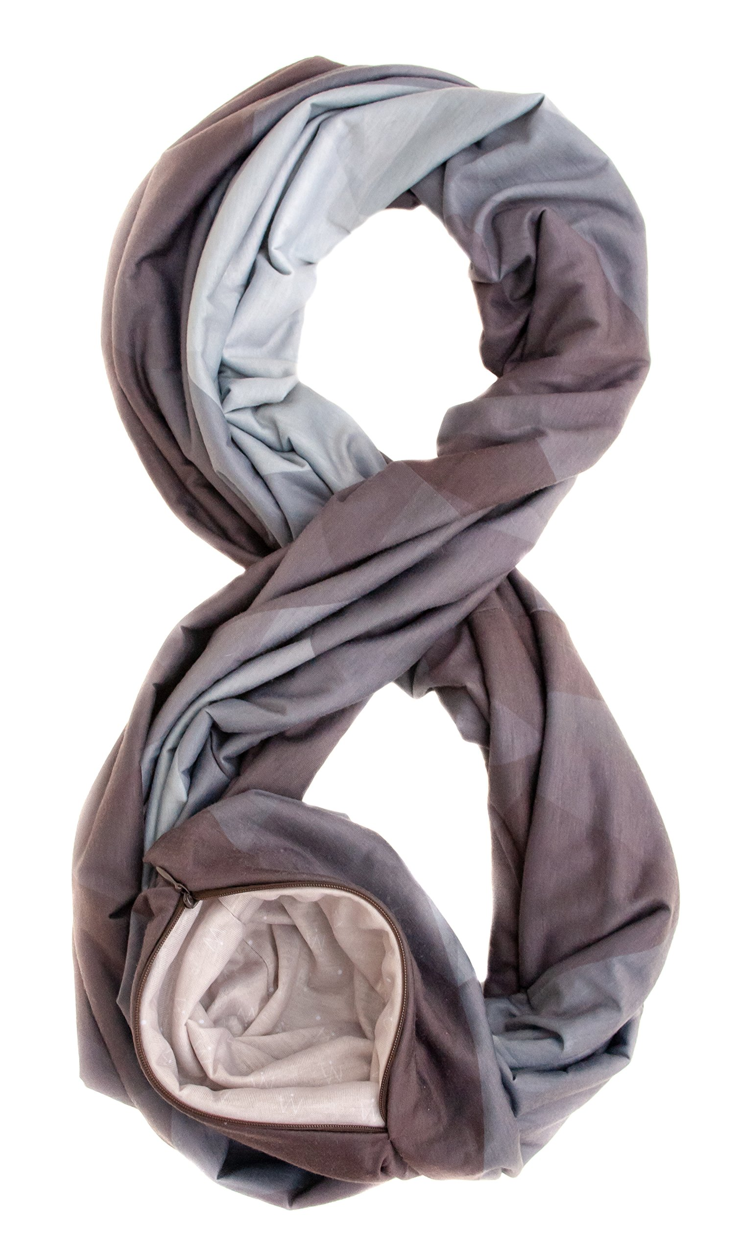 Travel Scarf with Secret Hidden Zipper-Pocket - Infinity Scarf by Waypoint Goods in Oslo style by WAYPOINT GOODS