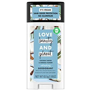 Love Beauty Planet Deodorant, Coconut Water and Mimosa Flower, 2.95 oz