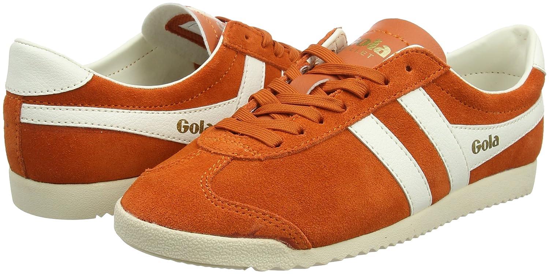 Gola Women's Bullet Suede Fashion Sneaker B074LRK3XB 9 B(M) US|Mandarin Orange/Off-white