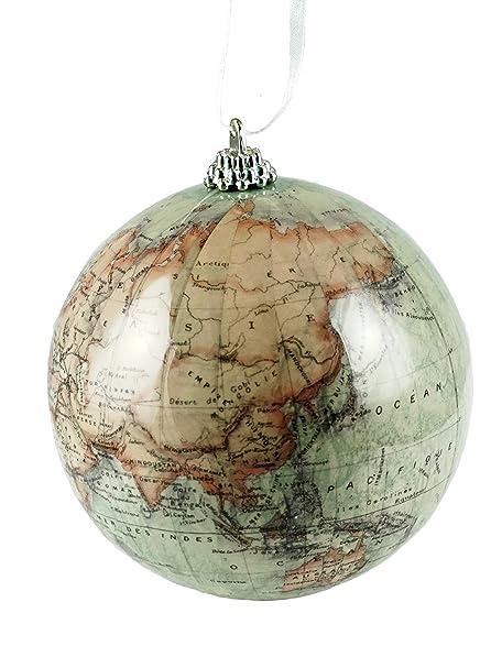 Amazon antique old world map globe hanging christmas ornament antique old world map globe hanging christmas ornament gumiabroncs Image collections
