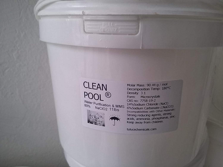 Clean piscina clorito de sodio 80% 11lbs naclo2 odorles cloro 5 kg ...