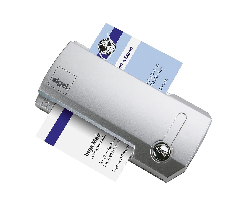 Sigel VZ600 Scanner Cartes De Visite Avec Logiciel Cardiris Pochette Rangement Rigide Cble USB Et Notice Argent Import Allemagne Amazonfr
