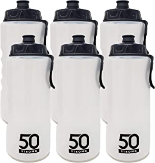 product image for 1 Liter Sports Water Bottle Bite Friendly Pull Top Cap - Easy Squeeze + Built In Finger Grip & Carry Loop - BPA Free Plastic – Multiple Pack Sizes Available – Made in USA (6 Pack)