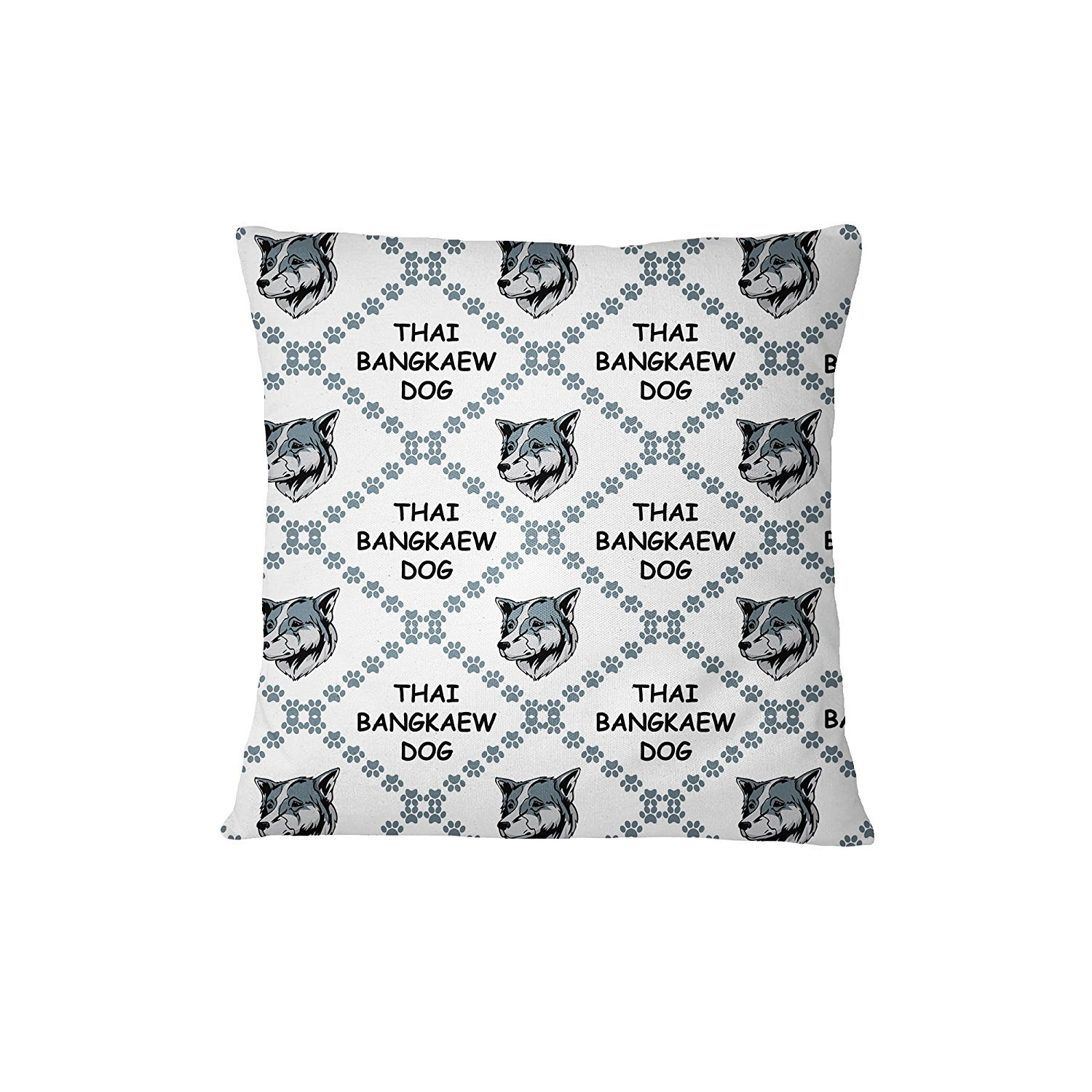 Thai Bangkaew Dog Dog Paws Sofa Bed Home Decor Pillow Cover Pillow & Cover Set RENJUNDUN by RENJUNDUN