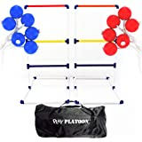 Play Platoon Premium Ladderball Game Set with 6 Ladder Golf Ball Bolas (Complete Ladder Toss Game Set)