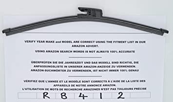 Limpiaparabrisas trasero de ajuste exacto RB412 31 cm
