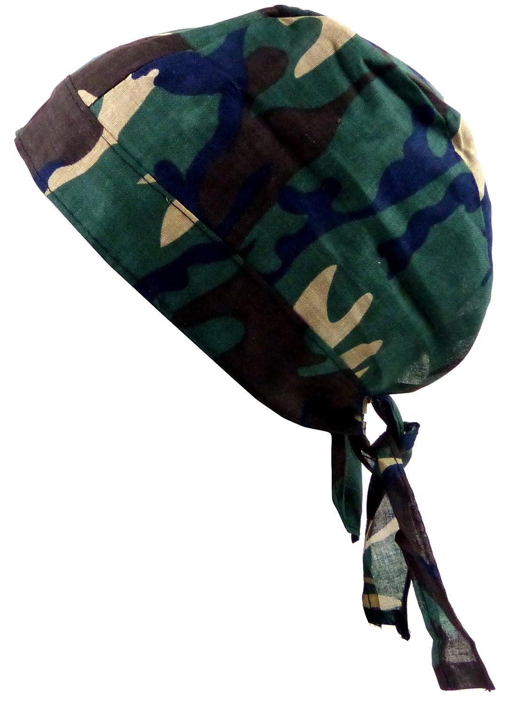 Kopftuch Camouflage grün-blau Kinder-Sonnenschutz Night