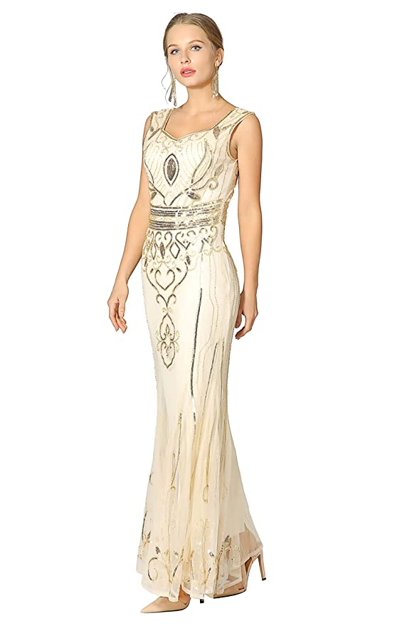 Authentic 1920s Makeup Tutorial Metme Sequin Beaded Long Dresses Gatsby Theme Party Night Sexy Women Flapper Dress Prom $58.99 AT vintagedancer.com