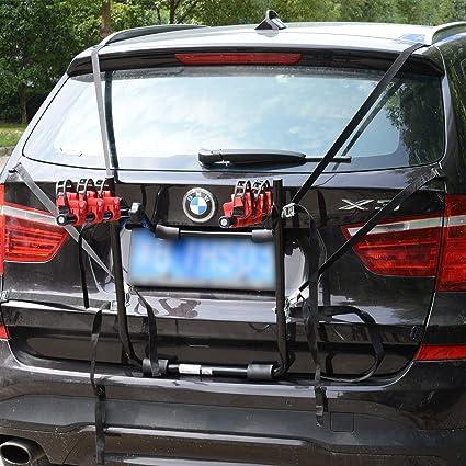 Homcom Fahrradheckträger Für 3 Fahrräder Fahrradträger Heckträger Faltbar Mit Sicherheitsgurte Metall Kunststoff Auto