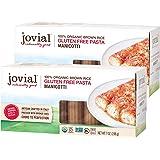 Jovial Manicotti Gluten-Free Pasta | Whole Grain Brown Rice Manicotti Pasta | Non-GMO | Lower Carb | Kosher | USDA Certified