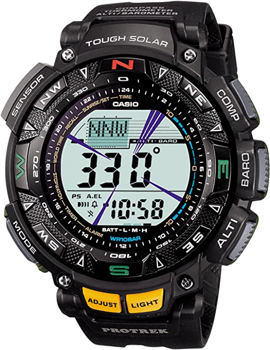 115d0382705f Amazon.com  Casio Watch Protrek Triple Sensor Tough Solar 2-tier Lcd ...