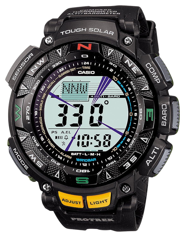 (カシオ)CASIO 腕時計 PROTREK プロトレック Triple Sensor タフソーラー レジスターリンク付き2層液晶モデル PRG-240-1JF メンズ