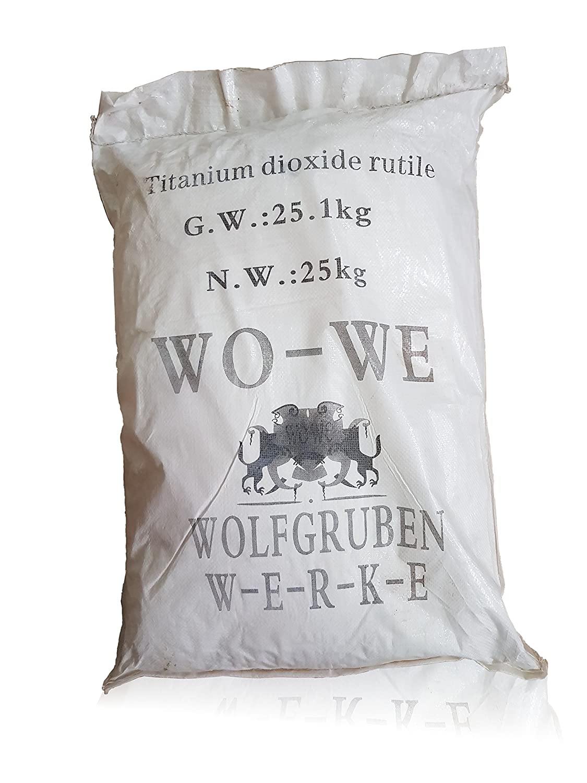 Titandioxid Oxidfarbe Pigment Farbe   WO-WE W122   Betonfarbe   Weiß - 10kg