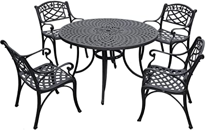 Genial Crosley Furniture Sedona 5 Piece Solid Cast Aluminum Outdoor Dining Set  With 48