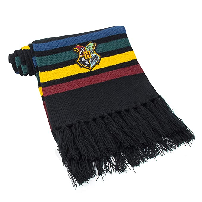 6a9bcf7ad8ba8 Cinereplicas Harry Potter Scarf - Official - Authentic - Ultra Soft Knitted  Fabric (Black (