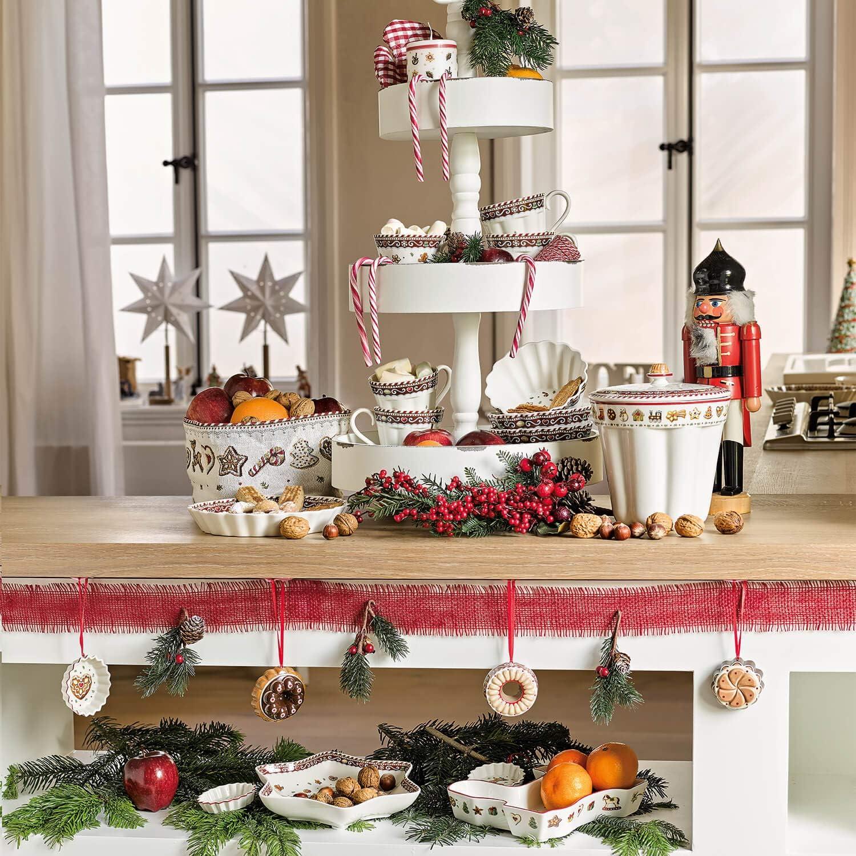 Villeroy /& Boch Winter Bakery Decoration D/écoration de sapin Moule /à g/âteau Renne Porcelaine Brun//Blanc