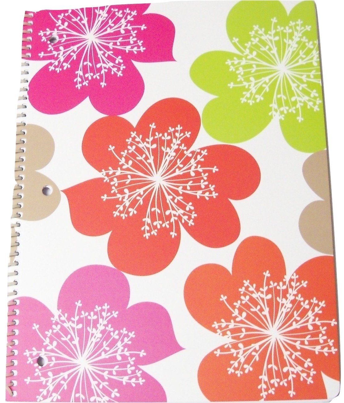 Amazon pink light design spiral notebook its a breeze amazon pink light design spiral notebook its a breeze multicolored flowers on white 8 x 105 60 sheets 120 pages toys games arubaitofo Image collections
