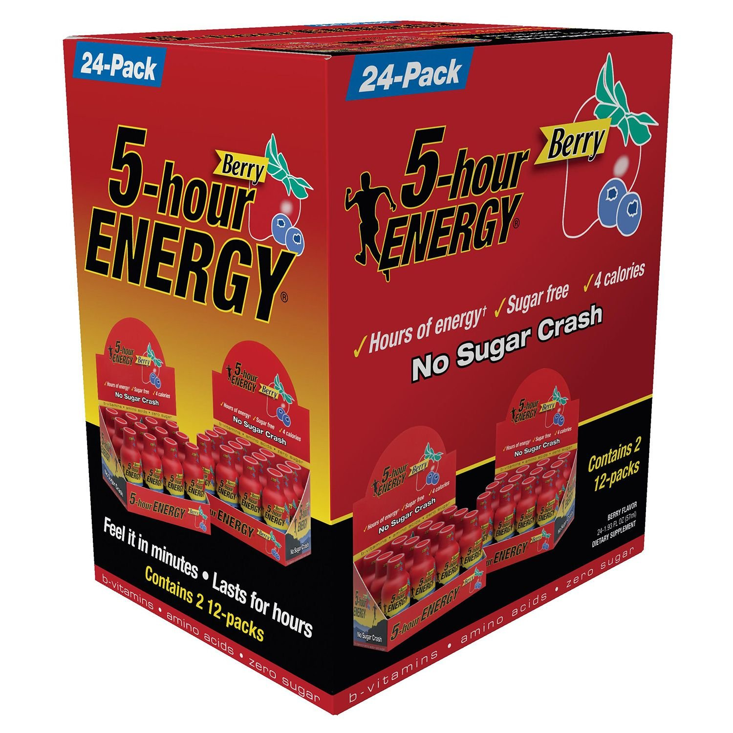 5 Hour Energy Drink Shot, Berry, 3Pack (24 Count Each ) by 5 Hour Energy