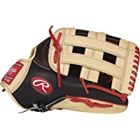 "RAWLINGS Heart of The Hide - Guante de béisbol, 31,9 cm (12,75""), Black/Camel - Bryce Harper Model, 32.3 cm"