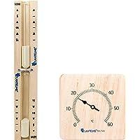 2 tlg. Sauna con Set de reloj