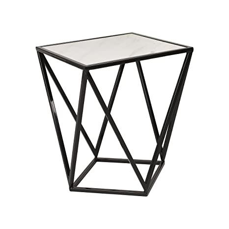 Amazon.com: Kate And Laurel Maia Metal Side Accent Table With Marble Top,  Black: Home U0026 Kitchen