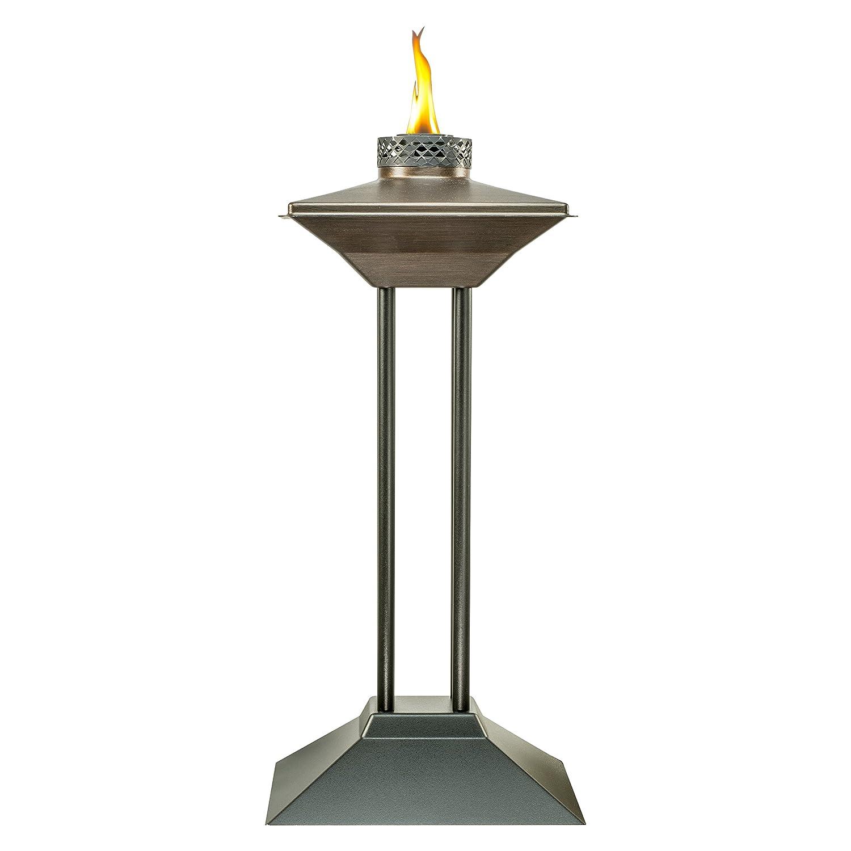 amazon com tiki brand 28 inch cordoba metal patio torch bronze