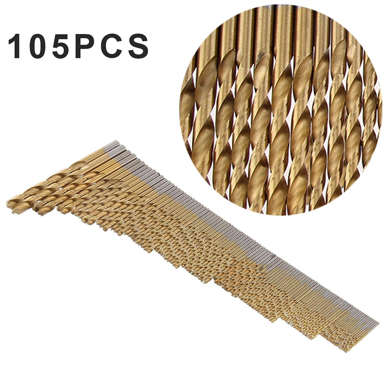 Iware 105pc Cobalt Drill Bits Set HSS-Co Stainless Steel Metal Tool Cobalt Bits