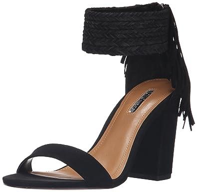 BCBGeneration Women's BG-Calizi Dress Sandal, Black Suede, ...