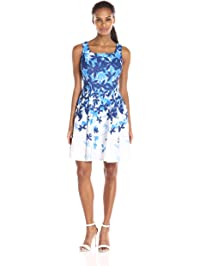 ea7abb0a210 Julian Taylor Women s Floral Printed Fit-and-Flare Dress