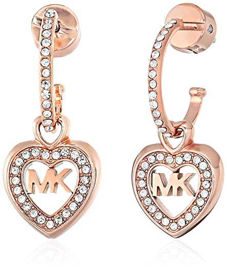 3366972ad Michael Kors Womens Rose Gold-Tone Heart Drop Earrings, One Size:  Amazon.ca: Jewelry