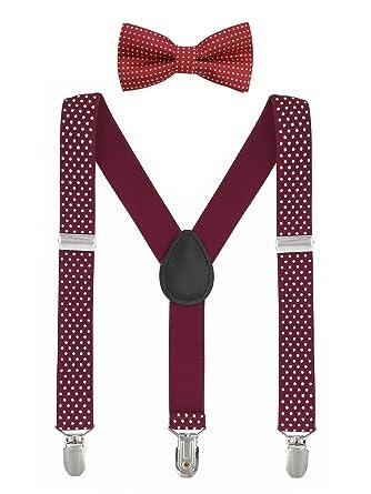 Baby Kinder Hosenträger mit Fliege Punkte Elastisch Gürtel 3 Clips Y-Form Jungen Mädchen Hosen Röcke Tutu Shorts Suspender