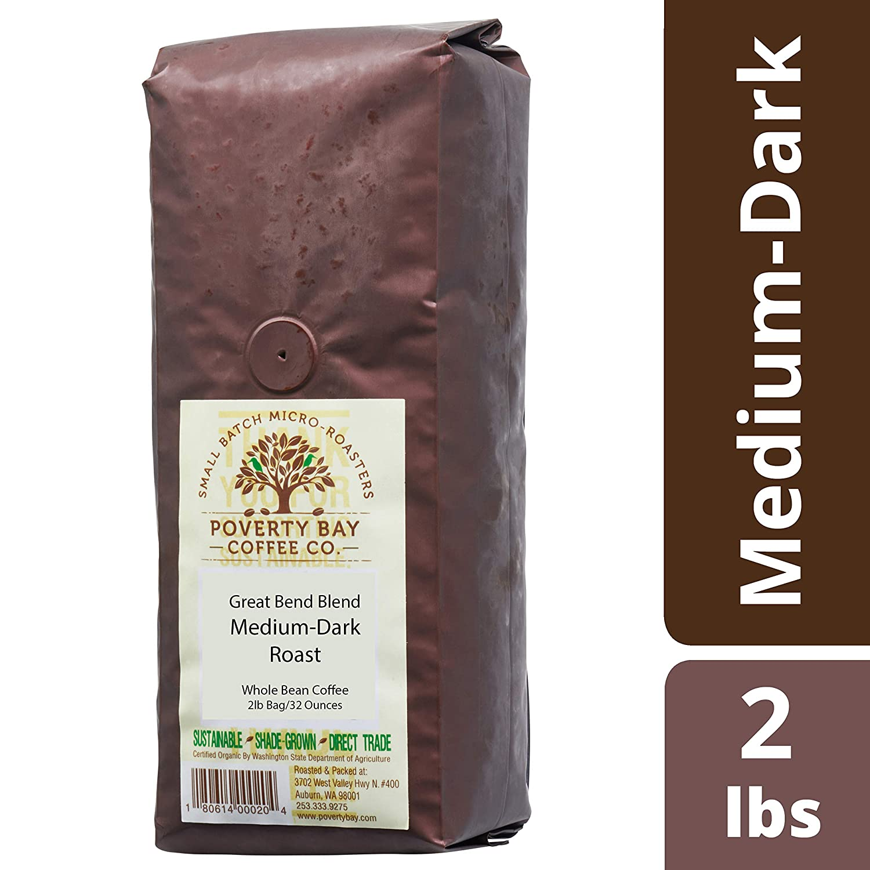 最適な価格 Medium Bean Dark Roast Coffee Whole Beans - Great Bend Blend Gourmet - 2lb bag of Coffee Beans Roasted By Poverty Bay Coffee Co - Gourmet Coffee Beans, Whole Bean Coffee, Locally Roasted Coffee, 2 Pound Bag B07L6S1HBJ, トナー本舗:abf17494 --- svecha37.ru