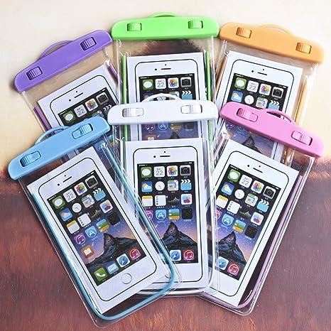 Kanggest.Luminoso Transparente Bolsa Estanca Universal para Natacion Fuente Termal Bucear Funda Impermeable para para iPhone Impermeable Funda Playa ...